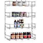 'INTEY Wall Mounted Spice Rack, Spice Rack Organizer, 4-Tier Spice Organizer for Kitchen, Chrome' from the web at 'https://images-na.ssl-images-amazon.com/images/I/51HSZEdjaiL._AC_SR150,150_.jpg'