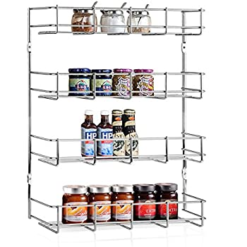 Amazon Com 4 Tier Spice Rack Cabinet Door And Wall