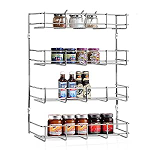 Amazon Com Intey Wall Mounted Spice Rack Spice Rack