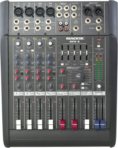 Amazon.com: Mackie DFX.6 6-Ch. Compact SR Mixer w/Effects: Musical Instruments