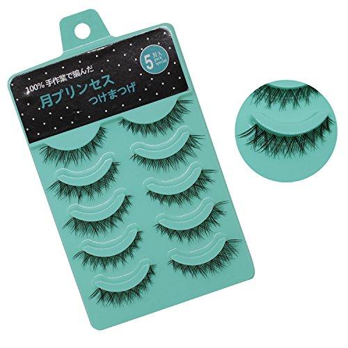 5Pairs New Women Ladies Natural Short Makeup Handmade Black Fake Cross False Eyelashes Eye End Lengthened Eye Lashes Tools