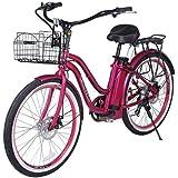 X-Treme Malibu Beach Cruiser Lithium Battery Electric Bicycle