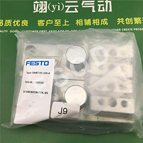 Fevas DAMT-V1-100-A FESTO Cylinder Trunnion mounting Assembly Pneumatic Components - (Color: DAMT-V1-100-A)