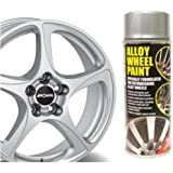 Metallic Silver E-TECH Alloy Wheel Paint Chip resistant Wheel refurb