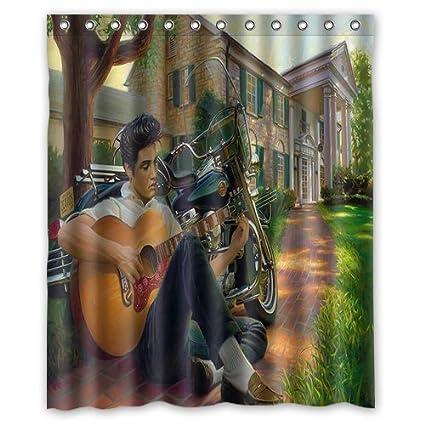 Amazon LIBIN Scottshop Custom Elvis Shower Curtain Waterproof