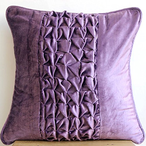 12 Inch Throw Pillow Covers : Designer Purple Throw Pillows Cover, Modern Solid Throw Pillows Cover, 12