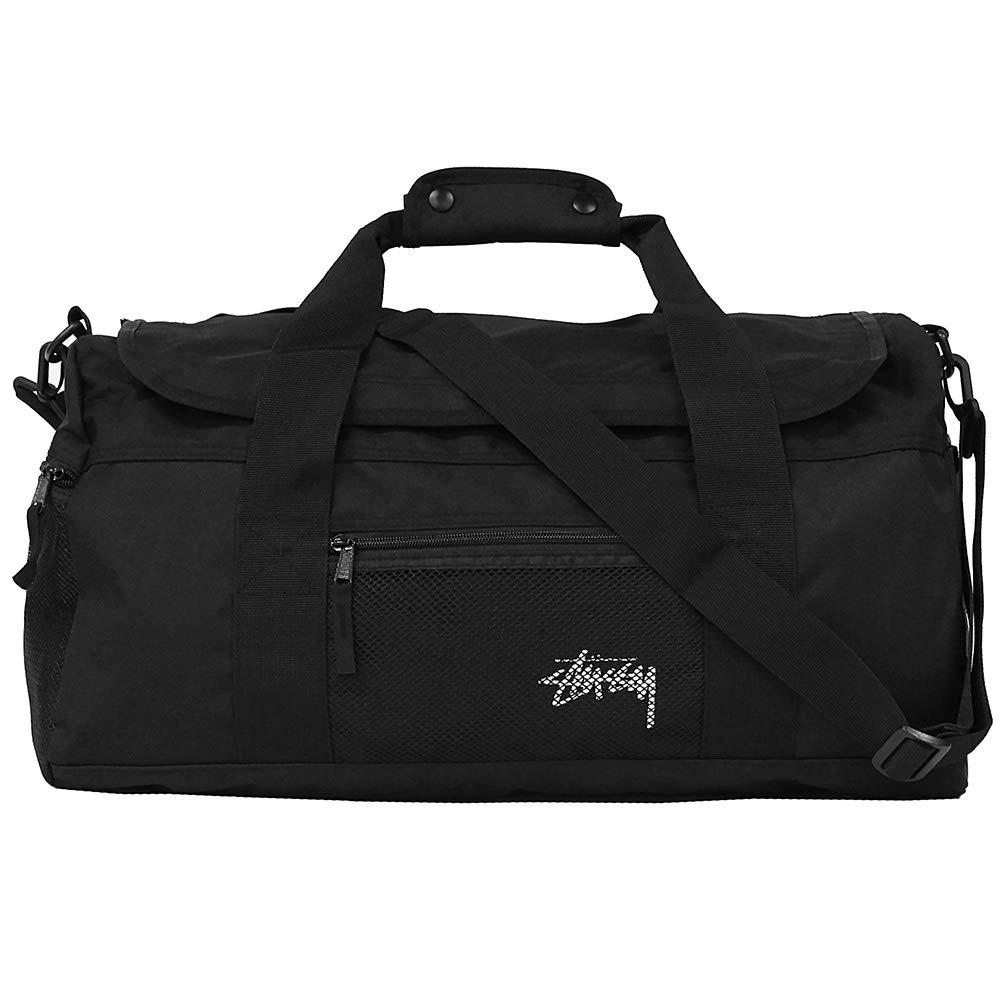 STUSSY ステューシー STOCK DUFFLE BAG ストックダッフルバッグダッフルバッグ ボストンバッグ スポーツバッグ メンズ B4 13416 [並行輸入品]  カラー:ブラック(134167) B07HBP7QYD