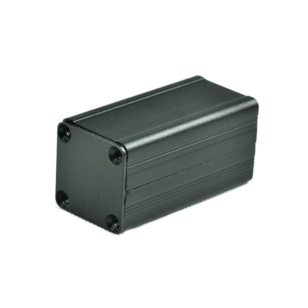 Eightwood Extruded Aluminum Box Electronic Project Enclosure Case DIY Box- 1.97'x0.98'x0.98' (LWH)