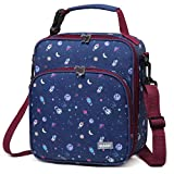 Lunch Boxes Bag for Boys,VASCHY Reusable Lunch Box Containers for Boys and Girls with Detachable Shoulder Strap, Insulated Lunch Coolers for School Cute Astronaut