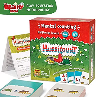 Amazon Com Fun Math Board Games For Preschoolers Counting Card Games For Kids Kids Games Ages 6 And Up Family Board Games Kindergarten Math Toys Games