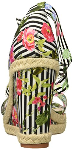 Betsey Johnson Womens Fraser Wedge Sandal Black/Multi enYJob