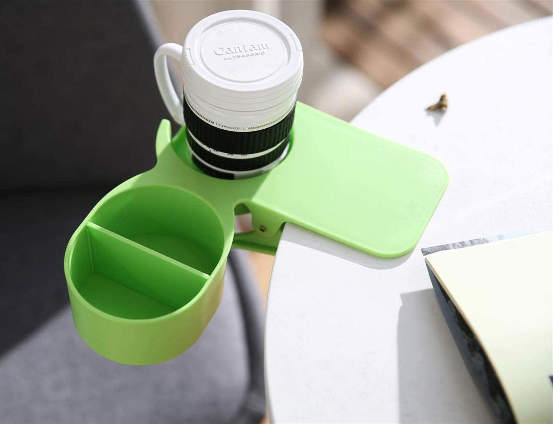Drinking Cup Holder Clip- Chair and Table Bottle Cup Stand The DIY Glass Clamp Storage Saucer Clip Water Coffee Mug Holder Saucer Clip Design for Home & Office,Green (1 Pack(new Type Green))