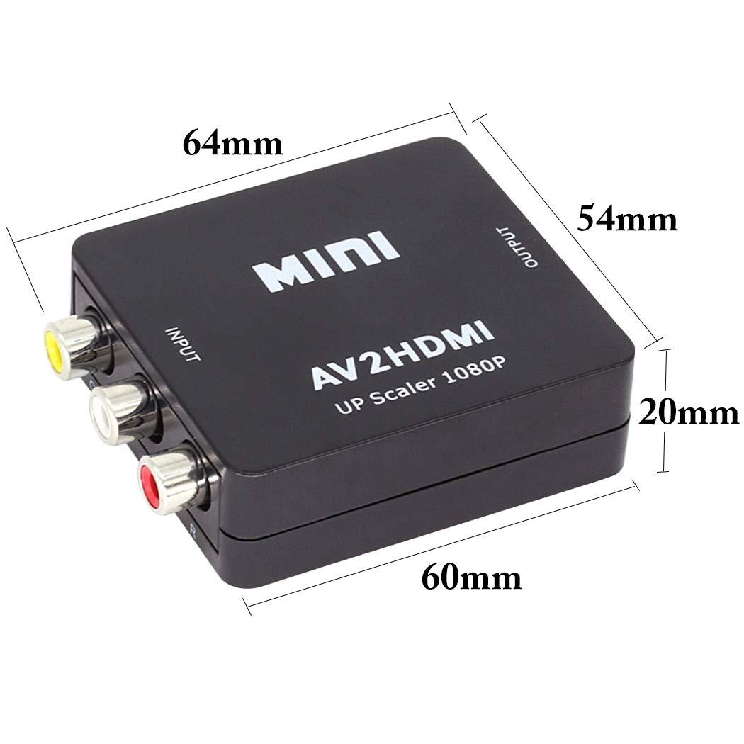 B bangcool AV to HDMI Converter Mini Composite RCA to HDMI Audio Adapter
