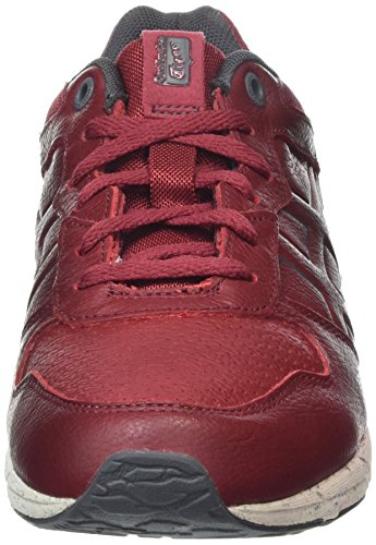 ASICS Rouge Basses Burgundy Baskets Adulte Mixte Runner Shaw 86TZxYqwr8