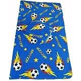 LARGE Size 70x60 Soccer Ball Anti-pill Polar Fleece Blanket (Royal) - 5pcs