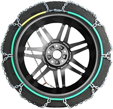 110 1 Paar T/ÜV gepr/üft Extra Stark Compass Schneeketten Snow 12mm f/ür Reifen 215//55 R17 /ÖNORM
