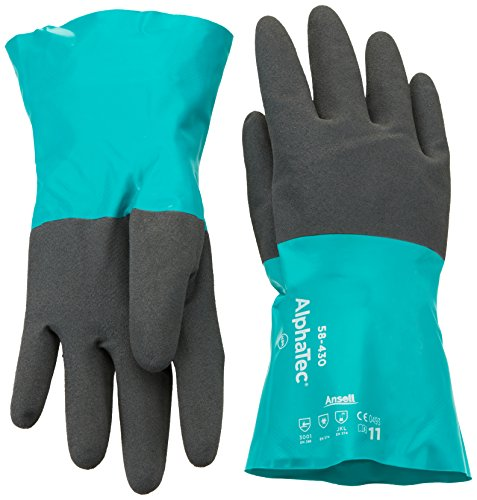 Gloves Ansell Cotton (Ansell Size 11 Sea Green AlphaTec 12