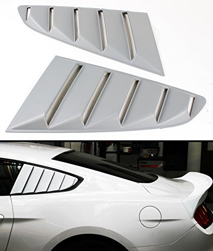 Cuztom Tuning Fits for 2015-2018 Ford Mustang GT S550 1/4 Quarter Window Louver Side Vent Scoop Covers ()