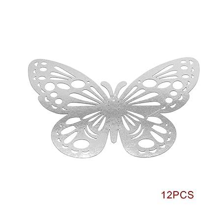 Boburyl 12pcs 3D Vivid Hueco engomadas de la Pared de Bricolaje ...