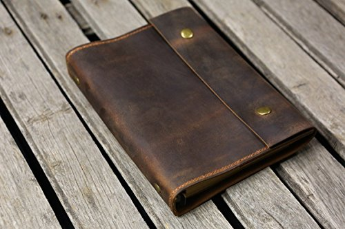 Personalized Leather distressed refillable portfolio product image