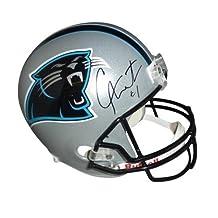 Cameron Newton Autographed Carolina Panthers Deluxe Full-Size Replica Helmet - Newton Holo - Autographed NFL Helmets