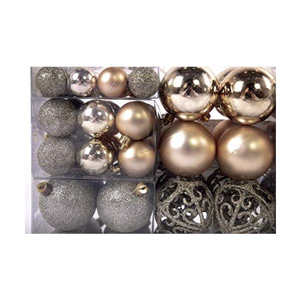 Esclusive Sfere per Albero di Natale SET con 100 Pezzi Color champagne 3 spesavip