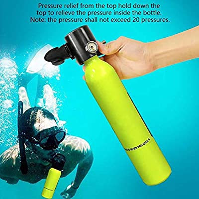 SolUptanisu Professional Diving Equipment Oxygen Cylinder High Pressure Air Pump Scuba Tank Refill Adapter Set Diving Breathe Underwater Scuba Dive Kit (Diving B Package)