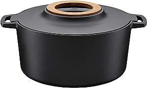 Fiskars Norden 505665 1001 Cast Iron Casserole Dish, 6 Qt