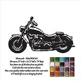 Motorcycle - 25'' x 13.75'' - metal wall art - Handmade - Choose your patina color