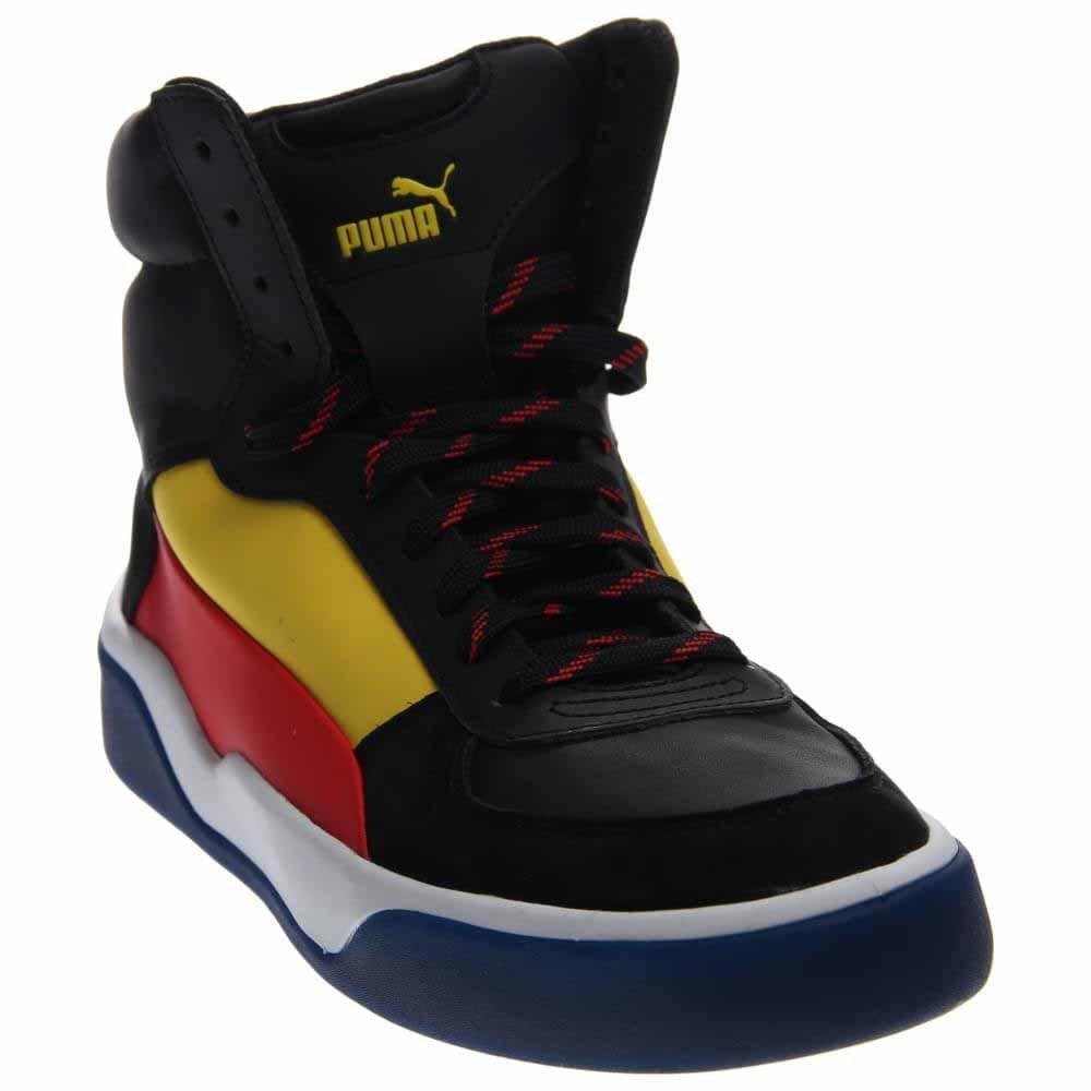 PUMA Mens Mcq Brace Mid B00RKUJ1LW 11 D(M) US Black/Vibrant Yellow/Flame Scarlet