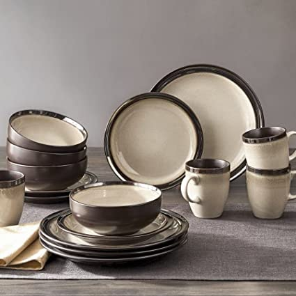 Better Homes and Gardens 16-Piece Dinnerware Set (Sierra Beige) & Amazon.com: Better Homes and Gardens 16-Piece Dinnerware Set (Sierra ...