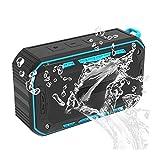 NEXGADGET Altavoz Bluetooth Portátil Bocina Impermeable IPX67 con 6-10 Horas de Reproducción Continua para MP3, Reproducción de TF, Conexión de Audio, Llamadas Manos Libres,Radio FM incorporado