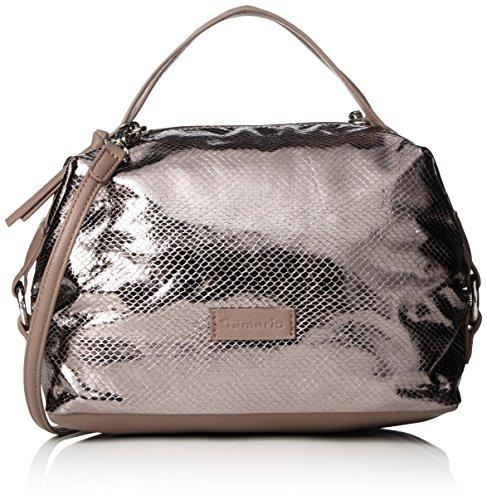 Tamaris MATILDA Handbag 1348161 Damen Henkeltaschen 21x21x14 cm (B x H x T), Grau (pewter comb 917)