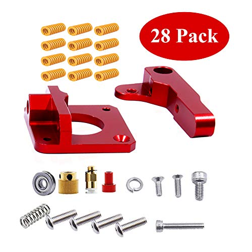 3D Printer Parts Accessories MK8 Extruder Aluminum Alloy Block Bowden Extruder 1.75mm Filament and Long Light Load Compression Mould Die Spring Yellow 12Pcs for Creality 3D Ender 3,CR-7,CR-8, CR-10, C