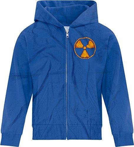 Price comparison product image BSW Girl's Radioactive Nuclear Grunge Rust Circle Hazard Zip Hoodie LRG Royal