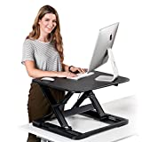 Desk Riser by Wuteku | Rising Gas Converter Adjusts to 11 Different Positions | No Assembly Required | Sits on Existing Workspace Surface | Perfect for Laptops Desktops or Dual Monitors | Warranty Inc