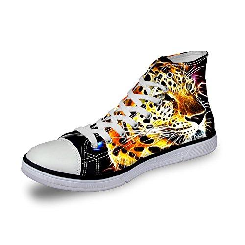 Pour U Conceptions 3d Zoo Animaux Motif Appartements Sneakers Pour Chaussures De Toile Pour Hommes C3963ak