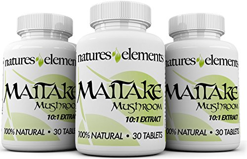 Cheap Maitake Mushroom for Immune Support – PACK OF 3 – Powerful 10:1 Maitake Extract – Standardized 30% Polysaccharides – Vegetarian Safe