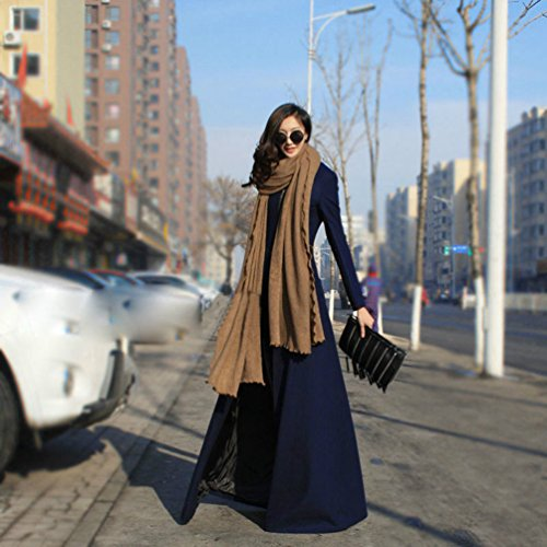Bleu Jitong Jacket Trench Femmes Outwear Longue Blouson Casual Fonc Veste Manteau P1ZzqrOP