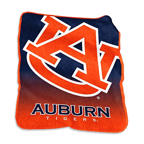 Auburn Tigers Throw Fleece (Logo Brands NCAA Auburn Tigers Raschel Throw, One Size, Navy)