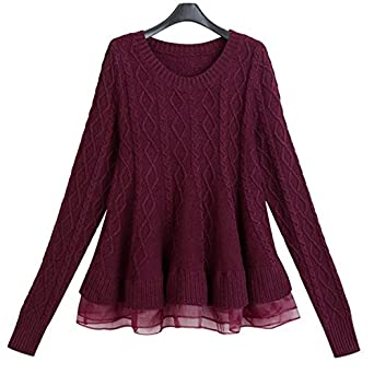 Naomiky Pretty Autumn New Fashion O-Neck Long Sleeve Mesh Ruffles Sweater  Female Knitted Pullover 9fd7ae31b