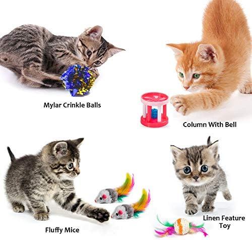 AILUKI 29 PCS Cat Toys Kitten Toys Assortments 5