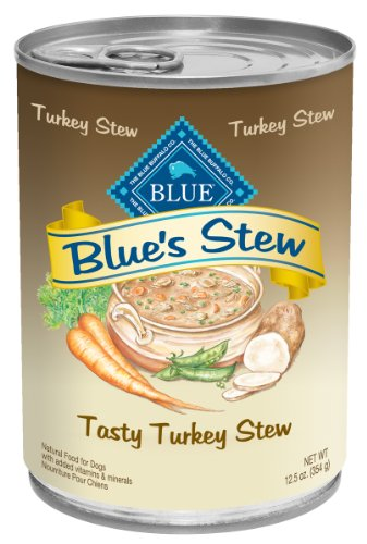 Blue Buffalo Hearty Turkey Stew for Dogs, (Pack of 12, 12.5-Ounce Cans)