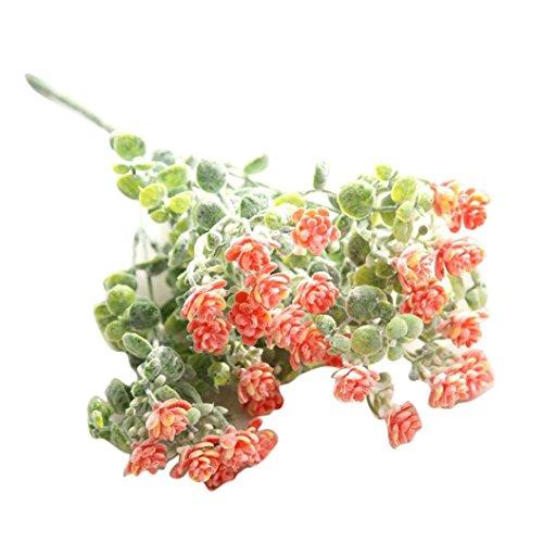 Vovotrade 1PC Artificial Fake Flowers Milan Camellia Arrangements Bridal Home DIY Floor Garden Office Wedding Decor (Orange) ()