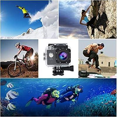 4K Remote Control Waterproof Digital Motion Camera Ultra HD Cam Outdoor DV Camcorder 2 inch SJ8000R WiFi Sports Action Camera - Black