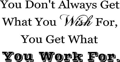CreativeSignsnDesigns [Creative Signs N Designs, CreativeSignsNDesigns] ...Work For...Wish For Motivational Fitness Vinyl Wall Decal