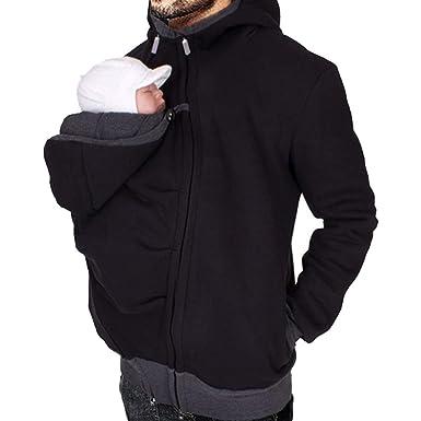 MissChild Kangourou Bébés Porteur Daddy - Sweats à capuche Hommes -  Sweatshirt Hiver Chaud  Amazon.fr  Vêtements et accessoires 0e0ebbcd93b