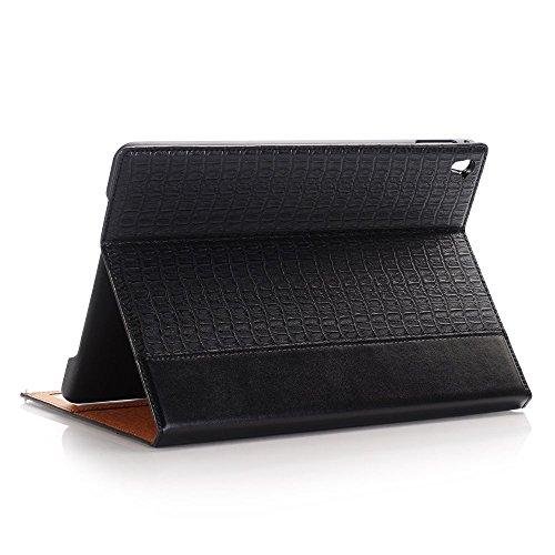 iPad Pro 12.9 Folio Case,SAVYOU Alligator Fashion Design Cover Folio Stand Case with Card Slots Function for 12.9 inch iPad Pro 2015 ,Black by SAVYOU (Image #2)