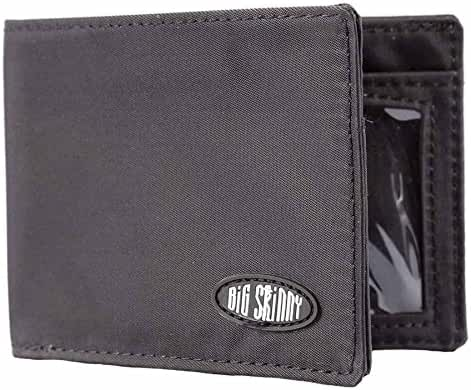 Big Skinny Men's Compact Sports Bi-Fold Slim Wallet, Holds Up to 20 Cards