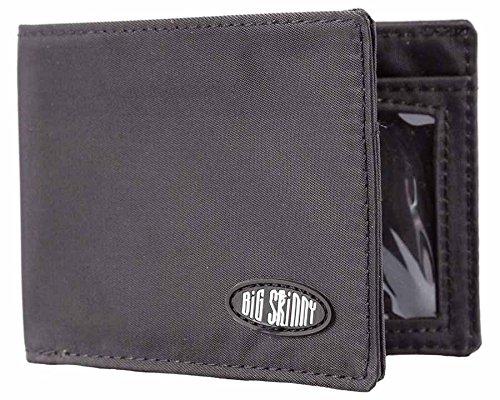 Big Skinny Men's Compact Sports Bi-Fold Slim Wallet, Holds Up to 20 Cards, Black